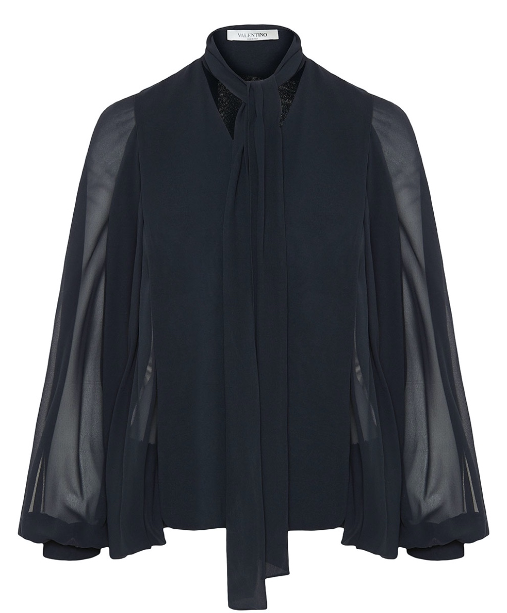 Bow tie-balloon sleeves blouse Valentino